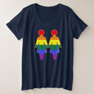 ガールフレンド プラスサイズTシャツ