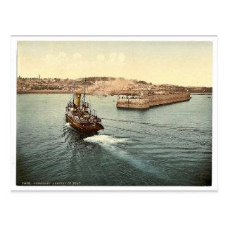 ガーンジーのセントピーターの港、ボートの到着、Chan ポストカード