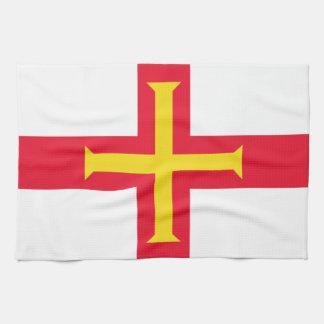 ガーンジーの台所タオルの旗 キッチンタオル