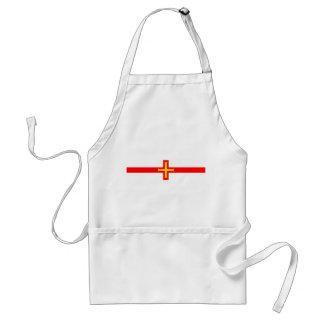 ガーンジーの国の長い旗の国家の記号共和国 スタンダードエプロン