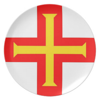 ガーンジーの国旗のプレート プレート