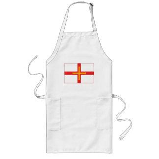 ガーンジーの旗の(軽い)エプロン ロングエプロン