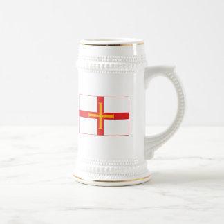 ガーンジーの旗の(軽い)マグ ビールジョッキ