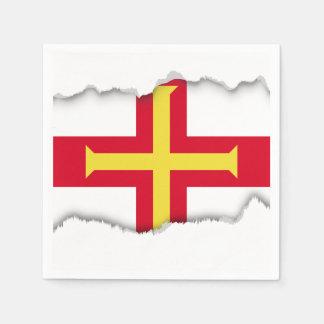 ガーンジーの旗 スタンダードカクテルナプキン