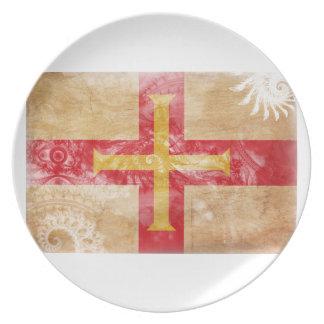 ガーンジーの旗 プレート