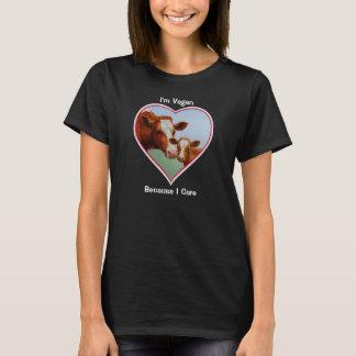 ガーンジー牛および子牛のビーガン Tシャツ