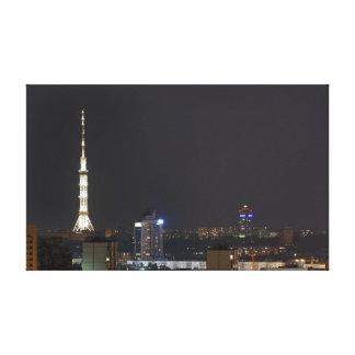 キエフ夜都市景観 キャンバスプリント