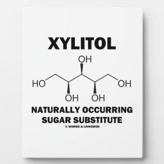 キシリトールの自然発生する砂糖の代理 フォトプラーク