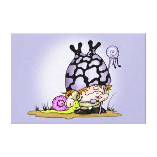 """キスして下さい及びTRIPOKの漫画0.75"""" -小さい24.00"""" x 16"""" キャンバスプリント"""