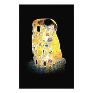 キスのグスタフのクリムトの黄色のデジタル絵画 便箋