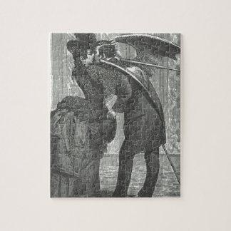 キスのビクトリア時代の人かゴシック様式飛んだ吸血鬼 ジグソーパズル