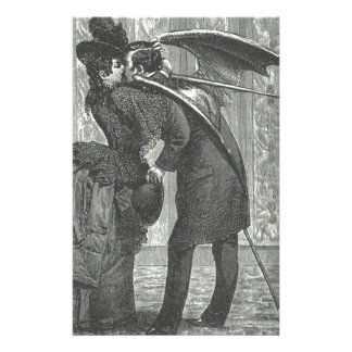 キスのビクトリア時代の人かゴシック様式飛んだ吸血鬼 便箋
