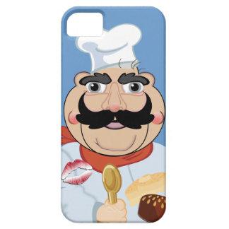 キスのiPhone 5の場合を持つ口ひげの調理師 iPhone SE/5/5s ケース