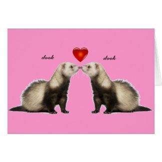 キスをするなフェレットのバレンタインカード カード