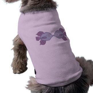 キスをするな魚の小犬のワイシャツ ペット服