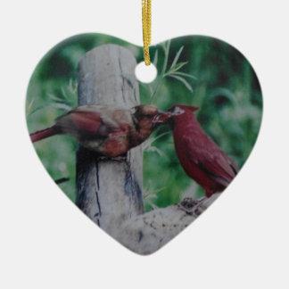 キスをするな(鳥)ショウジョウコウカンチョウ セラミックオーナメント