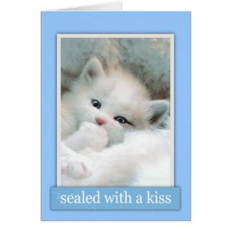 キスカードが付いているシール カード