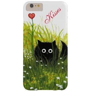キスBihrle著カスタムな猫の例 Barely There iPhone 6 Plus ケース