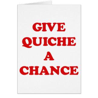 キッシュにチャンスを与えて下さい カード