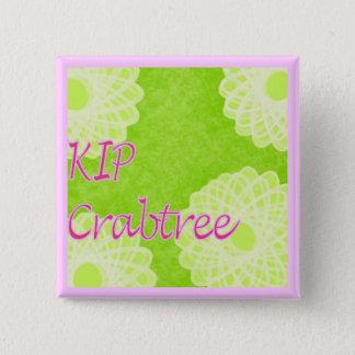 キップのCrabtreeの編み物 缶バッジ