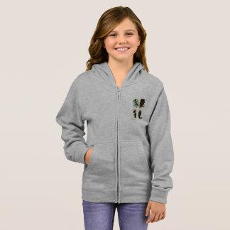 キツツキの女の子の基本的なジッパーのフード付きスウェットシャツ パーカ