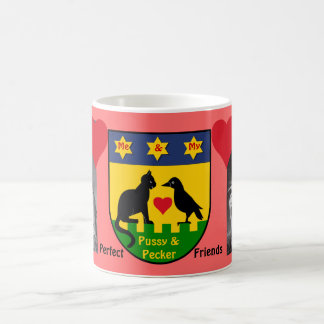 キツツキ猫完全に丁寧な家族の友情 コーヒーマグカップ