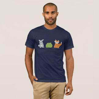 キツネのウサギのキャベツ人の暗いティー Tシャツ