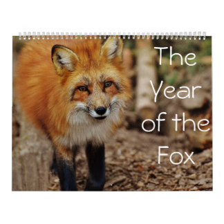 キツネのカレンダーの年 カレンダー
