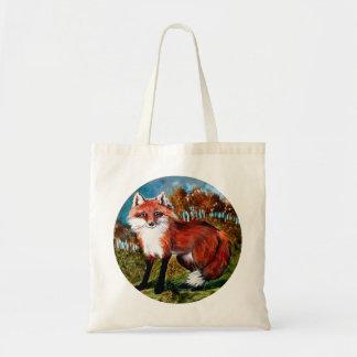 キツネのキツネの野性生物動物のバッグ トートバッグ