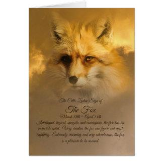 キツネのケルト族の印 カード