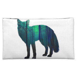 キツネのシルエット-森林孤-孤の芸術- wildfox コスメティックバッグ