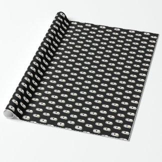キツネのスカルの包装紙 ラッピングペーパー
