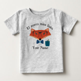 キツネのスペイン語のベビーのジャージーの利発なTシャツ ベビーTシャツ