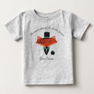 キツネのベビーのジャージーのエレガントなTシャツ ベビーTシャツ