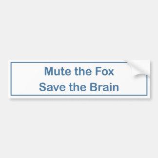 キツネの保存の頭脳のバンパーステッカー音を弱めて下さい バンパーステッカー