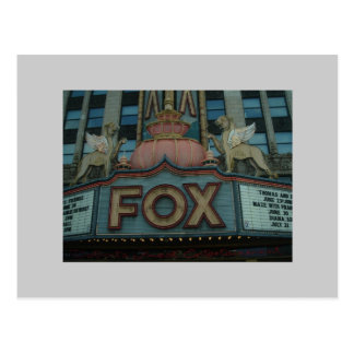 キツネの劇場、デトロイト、ミシガン州 ポストカード