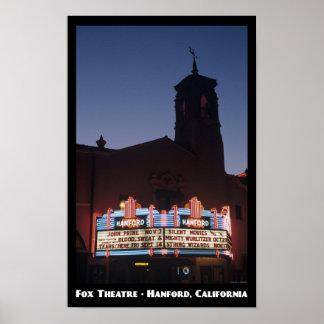 キツネの劇場、Hanford 11x17ポスター ポスター