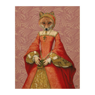 キツネの女王 ウッドウォールアート