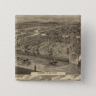 キツネの子供部屋、resの果樹園 5.1cm 正方形バッジ