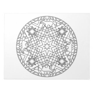 キツネの曼荼羅のぬり絵帳のパッド ノートパッド