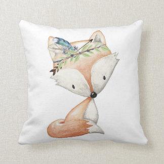 キツネの森林Bohoの男の赤ちゃんの子供部屋の枕装飾 クッション