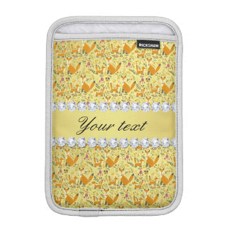 キツネの模造のな金ゴールドホイルのきらきら光るなダイヤモンド iPad MINIスリーブ
