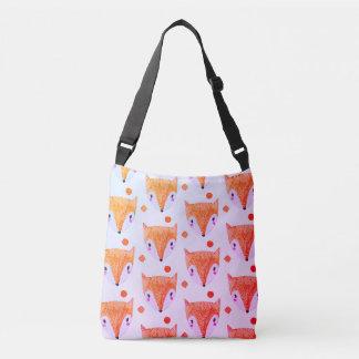 キツネの水彩画のCrossbodyの悪賢いバッグ クロスボディバッグ