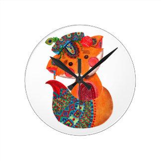 キツネの王子 ラウンド壁時計