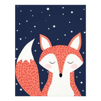 キツネの睡眠夜星 レターヘッド