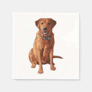 キツネの赤く黄色いラブラドル・レトリーバー犬犬 スタンダードカクテルナプキン