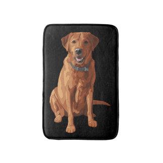 キツネの赤く黄色いラブラドル・レトリーバー犬犬 バスマット