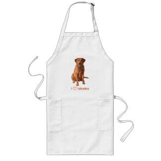 キツネの赤く黄色いラブラドル・レトリーバー犬犬 ロングエプロン
