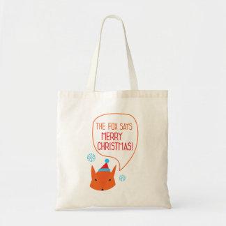 キツネはメリークリスマスを言います! トートバッグ