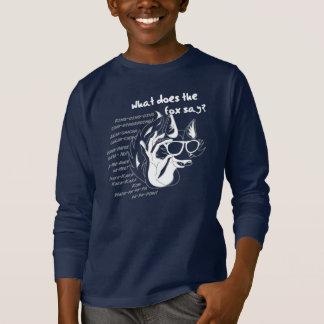 キツネは何を言いましたか。 Tシャツ